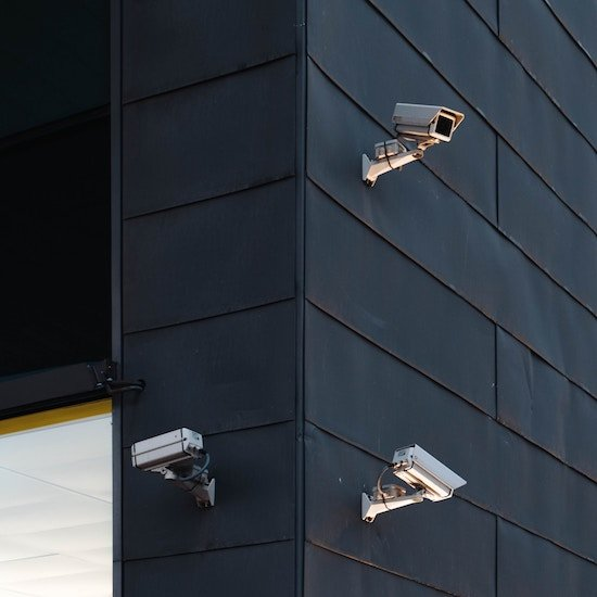 A business with multiple security cameras